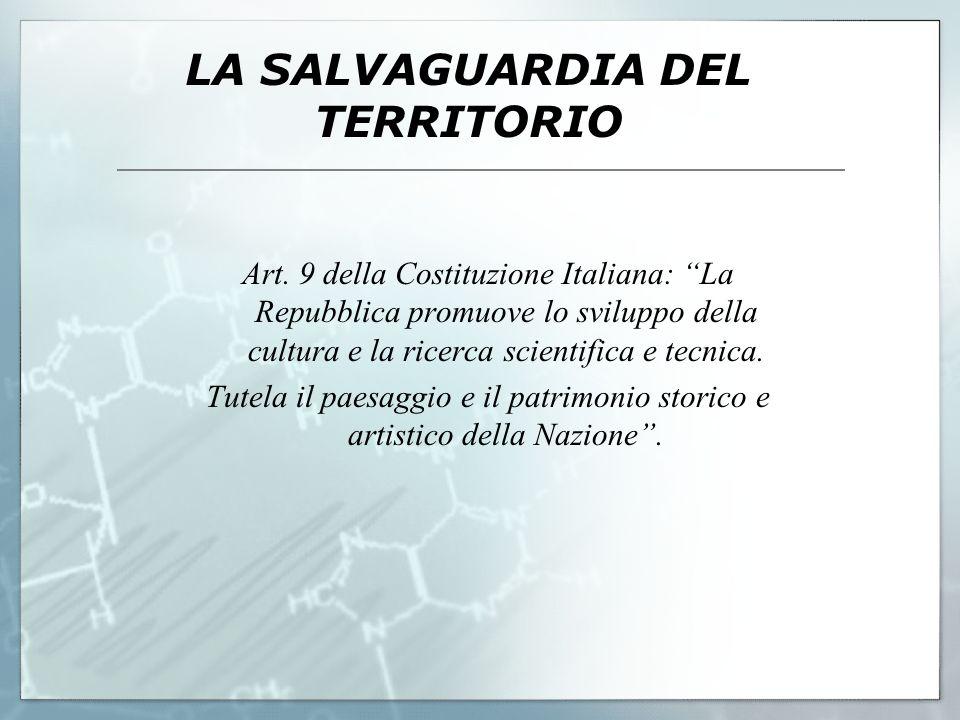 LA SALVAGUARDIA DEL TERRITORIO