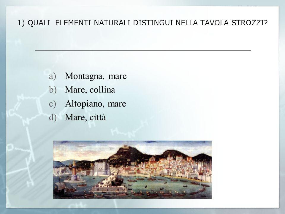 1) QUALI ELEMENTI NATURALI DISTINGUI NELLA TAVOLA STROZZI