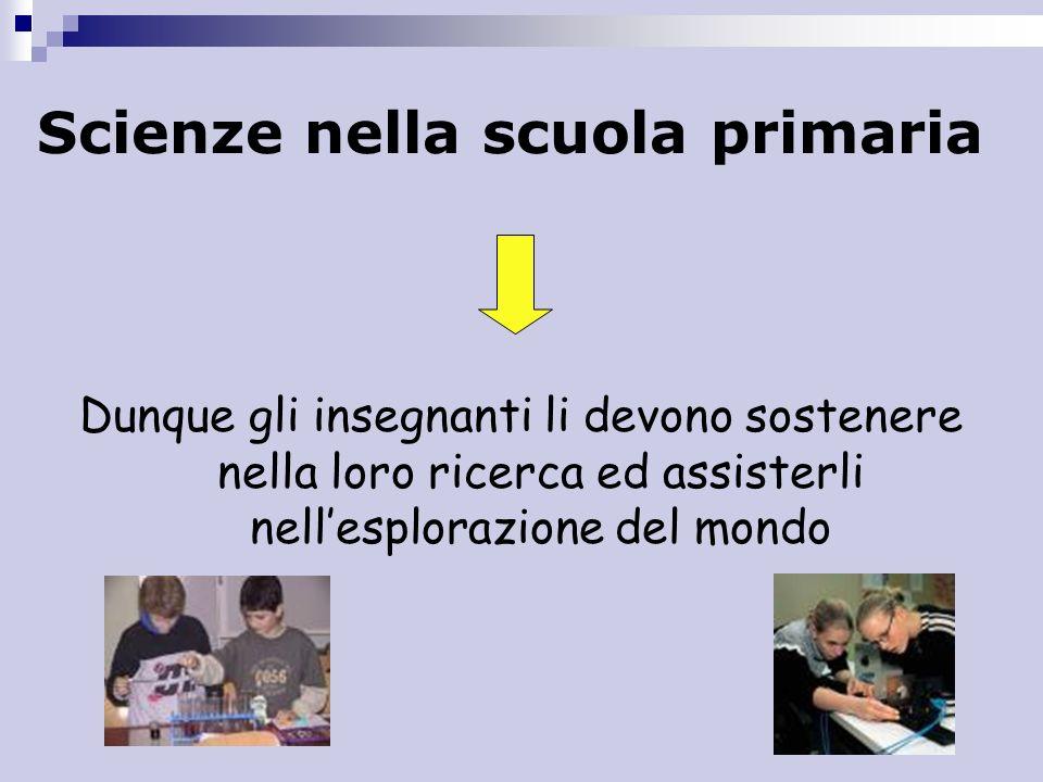 Scienze nella scuola primaria