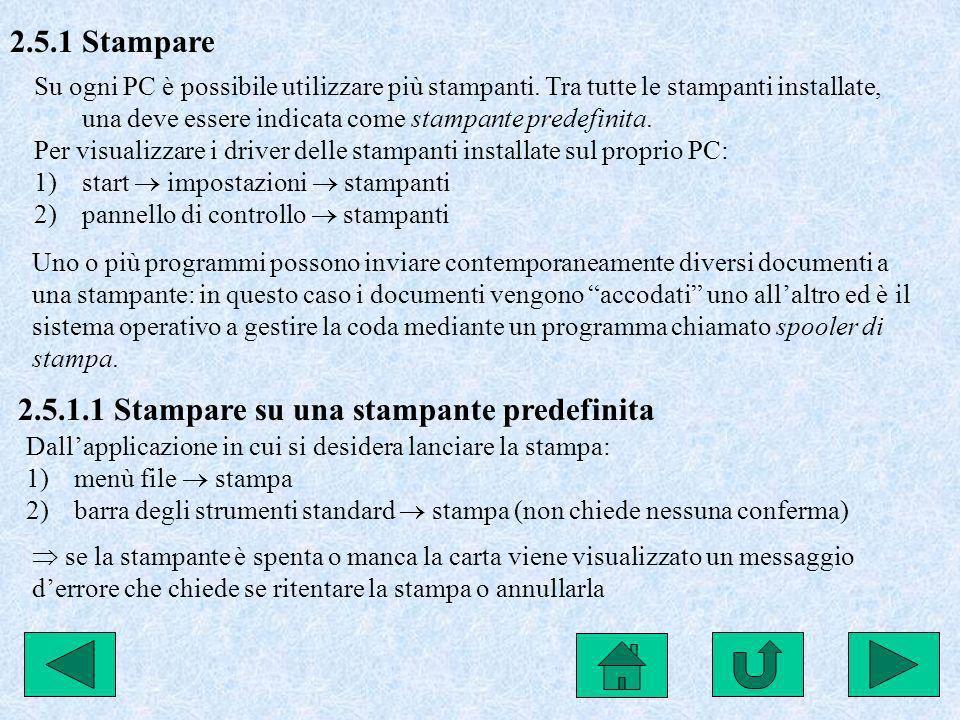 2.5.1.1 Stampare su una stampante predefinita