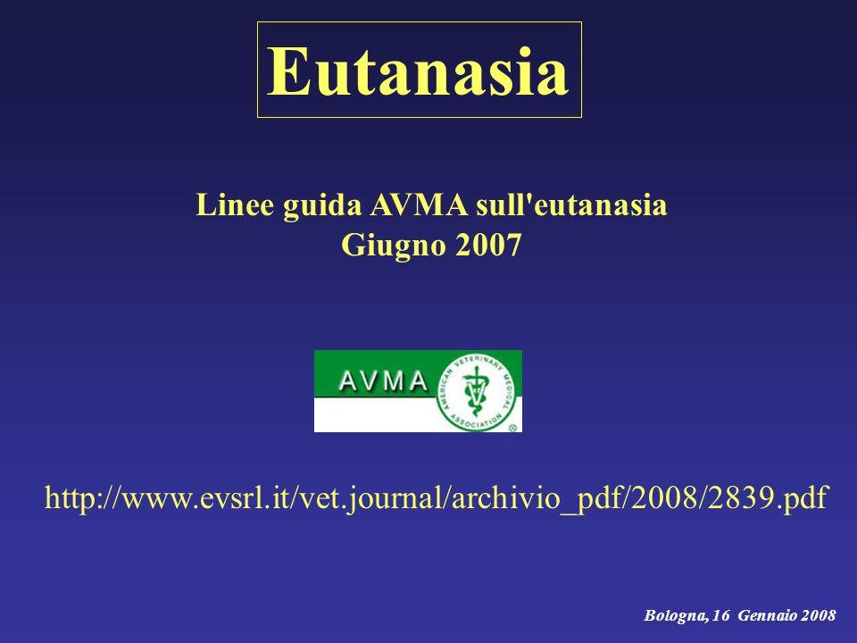 Linee guida AVMA sull eutanasia