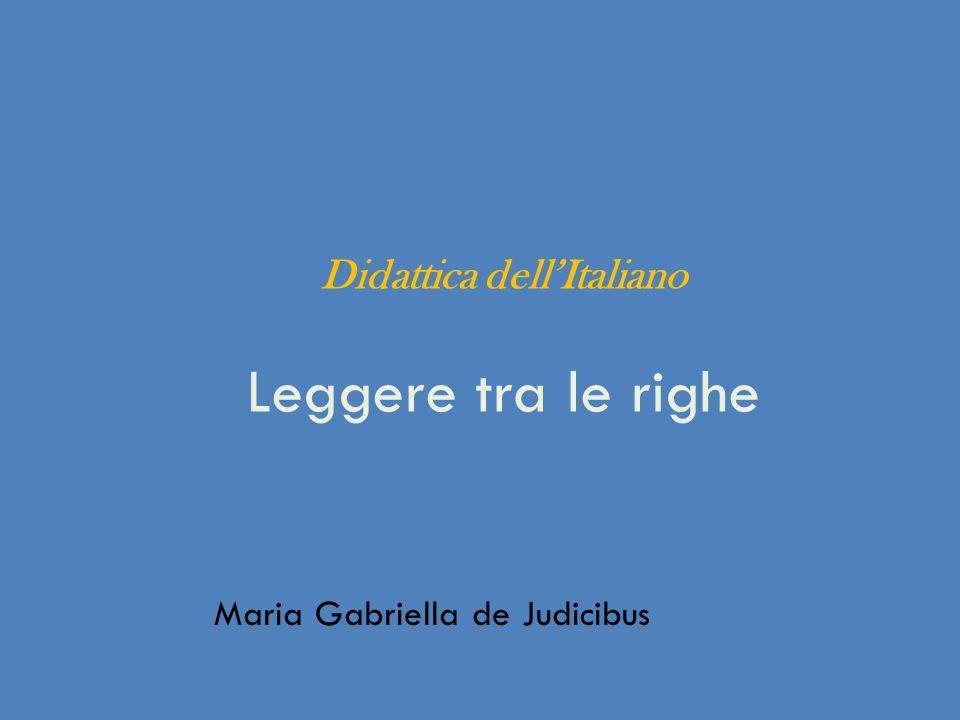 Didattica dell'Italiano Leggere tra le righe