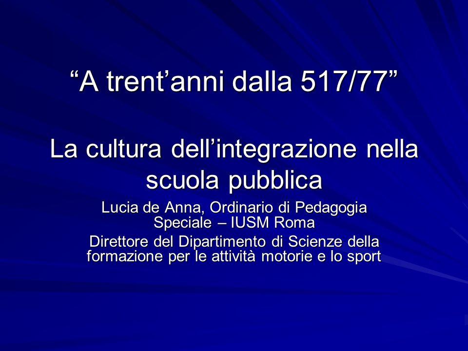 Lucia de Anna, Ordinario di Pedagogia Speciale – IUSM Roma