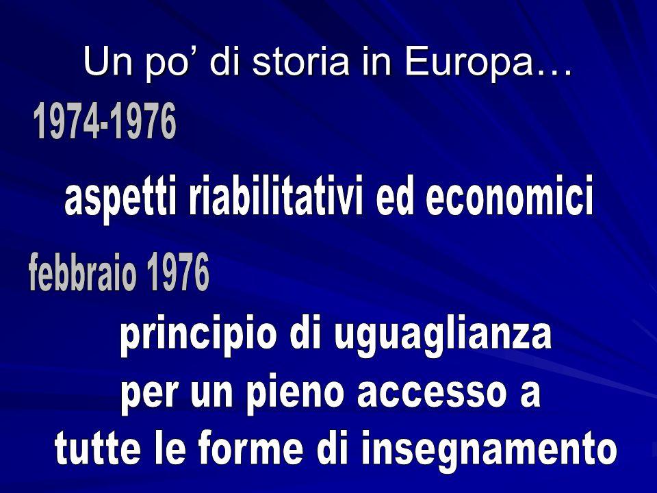 Un po' di storia in Europa…