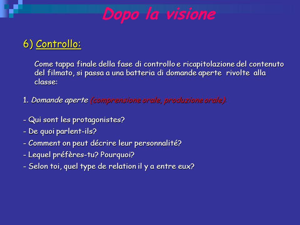 Dopo la visione 6) Controllo: