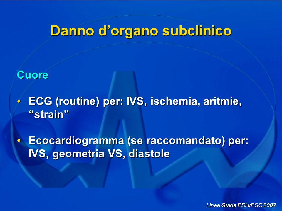 Danno d'organo subclinico
