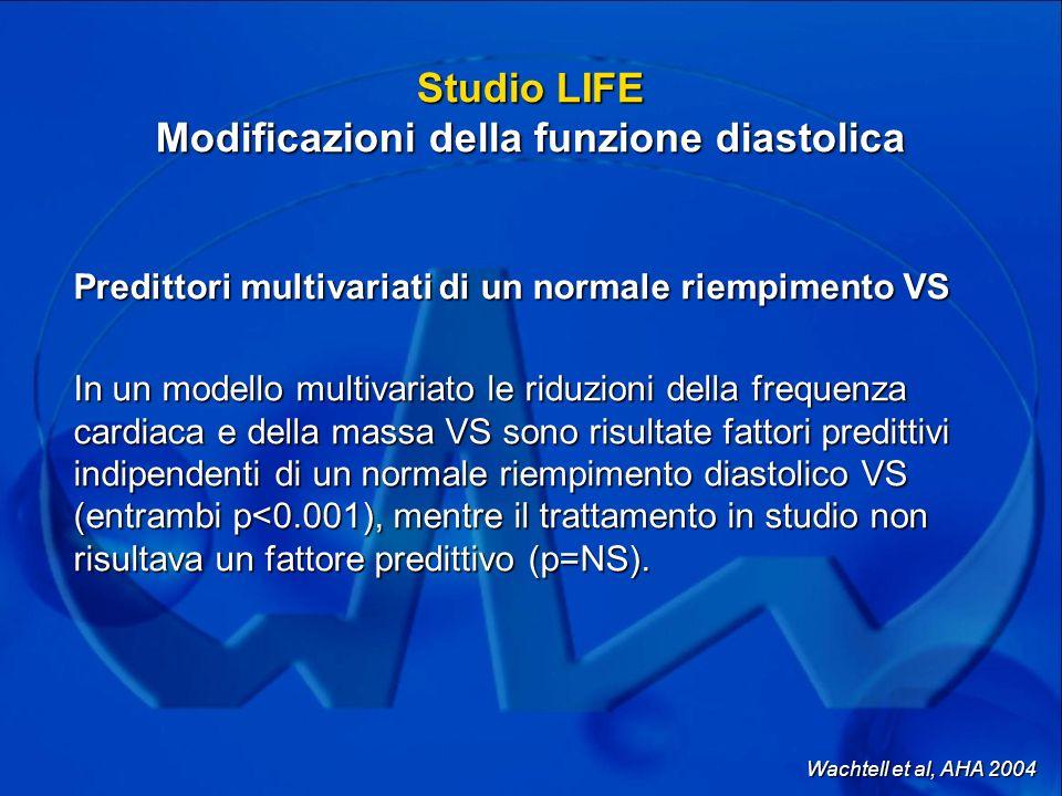 Studio LIFE Modificazioni della funzione diastolica