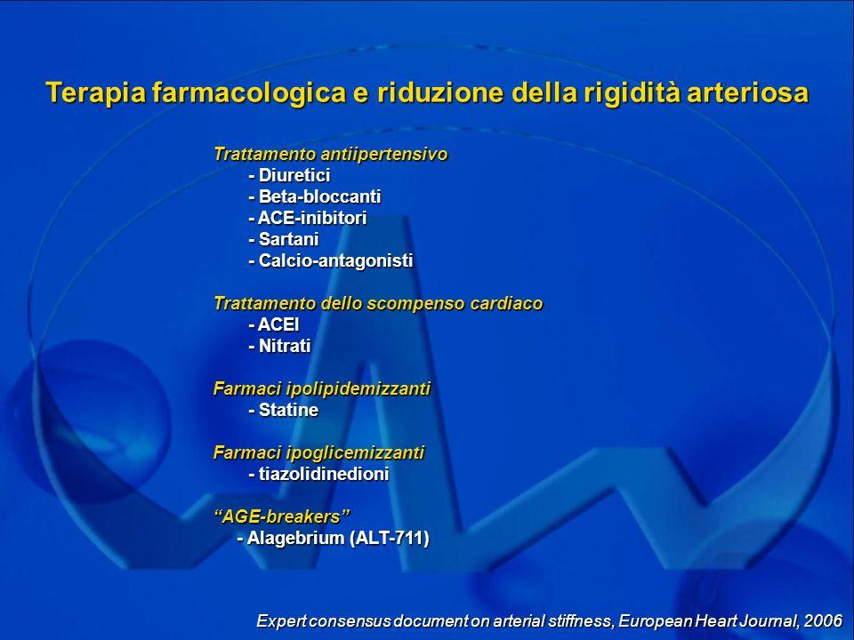 Terapia farmacologica e riduzione della rigidità arteriosa