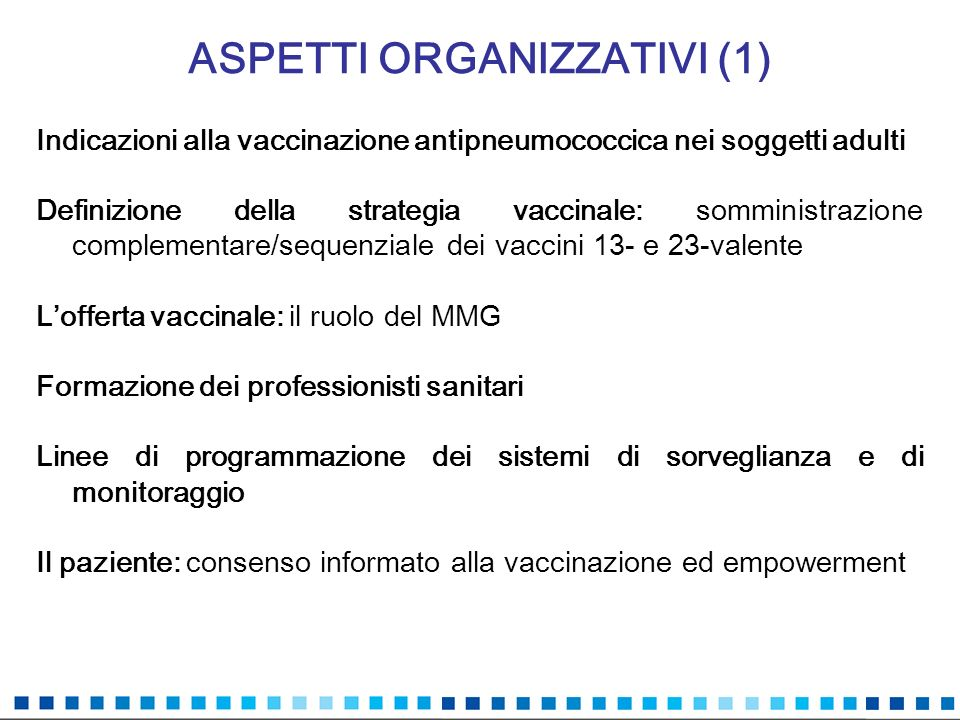 ASPETTI ORGANIZZATIVI (1)
