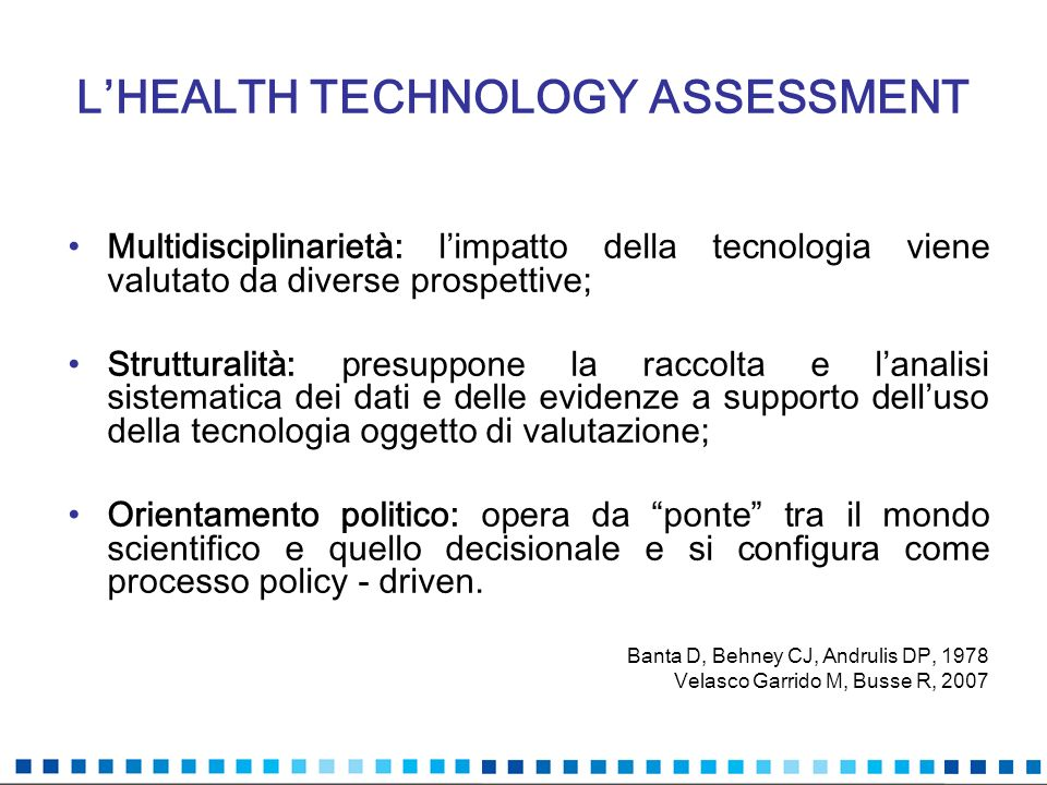 L'HEALTH TECHNOLOGY ASSESSMENT