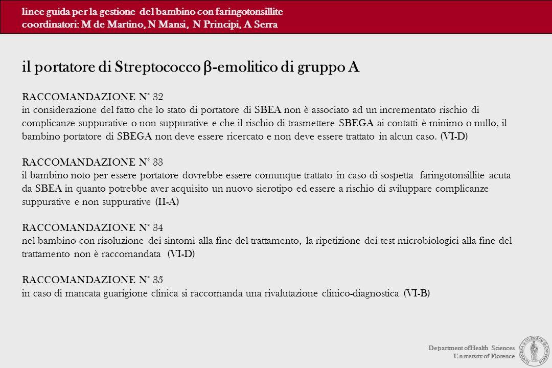 il portatore di Streptococco b-emolitico di gruppo A