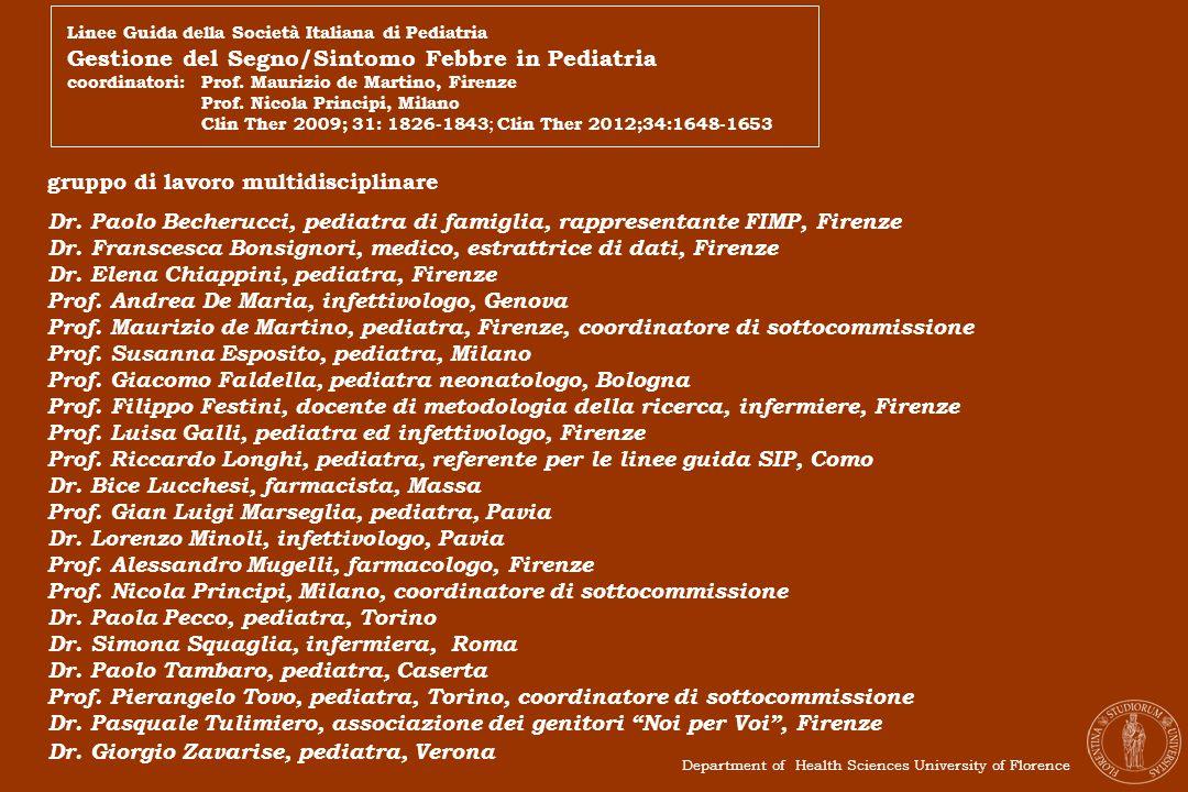 Gestione del Segno/Sintomo Febbre in Pediatria