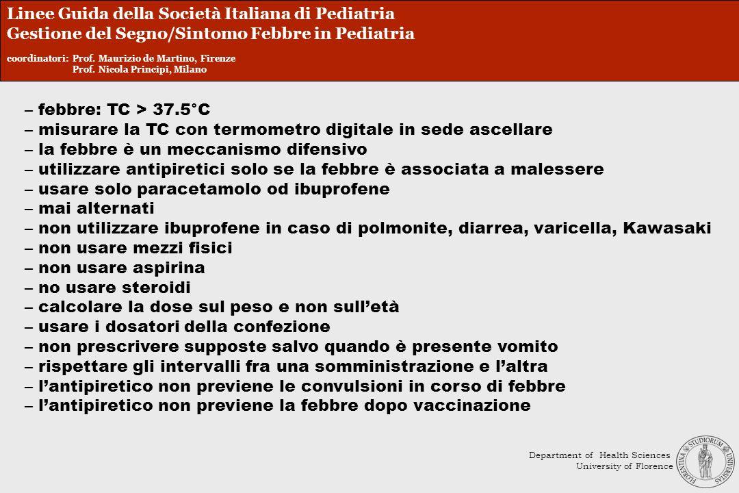 Linee Guida della Società Italiana di Pediatria