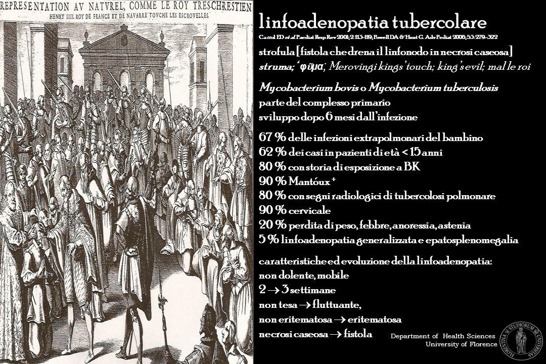 linfoadenopatia tubercolare
