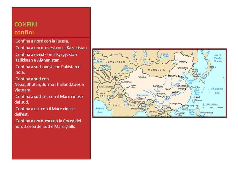 CONFINI confini .Confina a nord con la Russia.