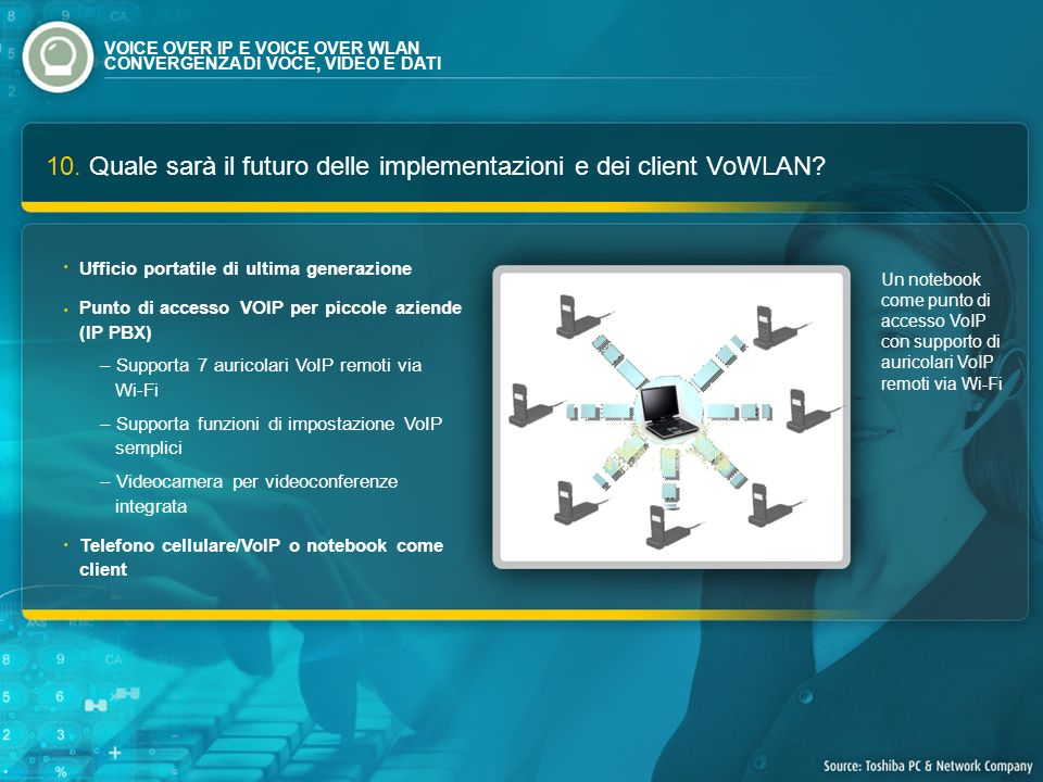10. Quale sarà il futuro delle implementazioni e dei client VoWLAN