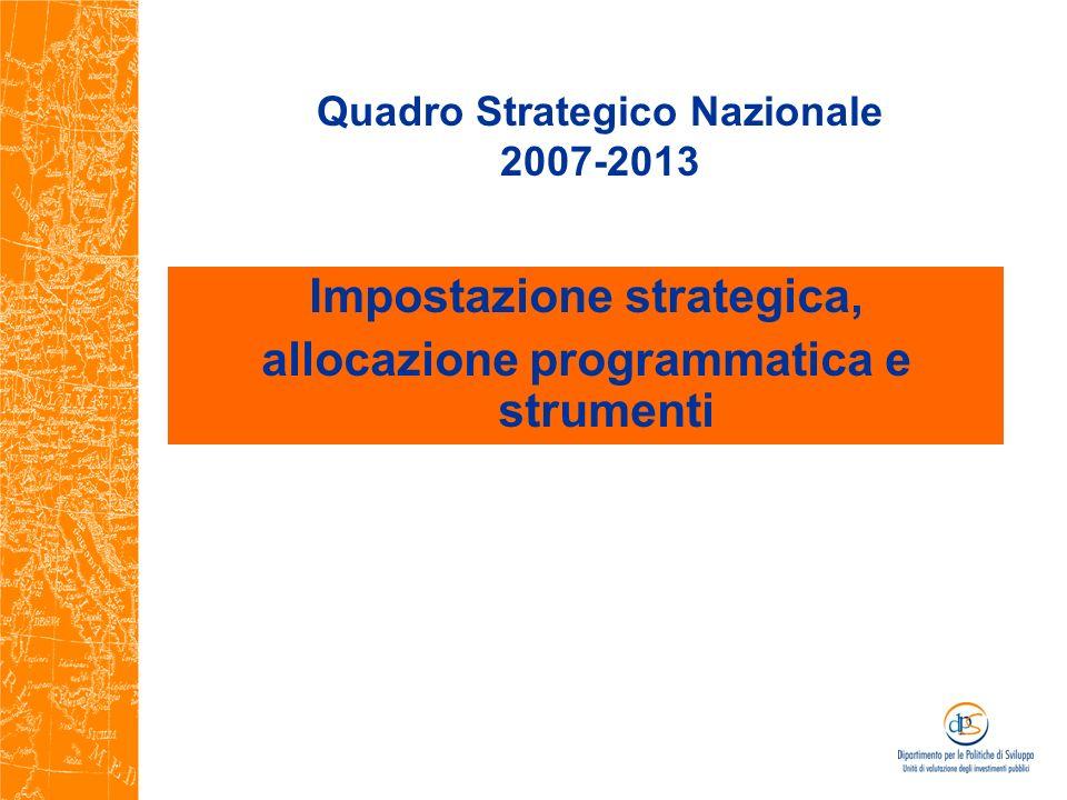 Quadro Strategico Nazionale 2007-2013