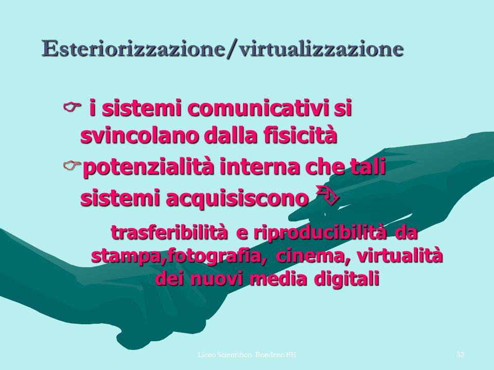 Esteriorizzazione/virtualizzazione