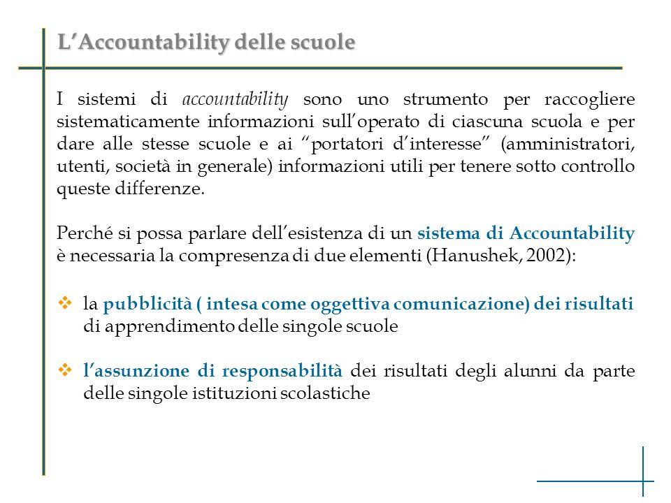 L'Accountability delle scuole