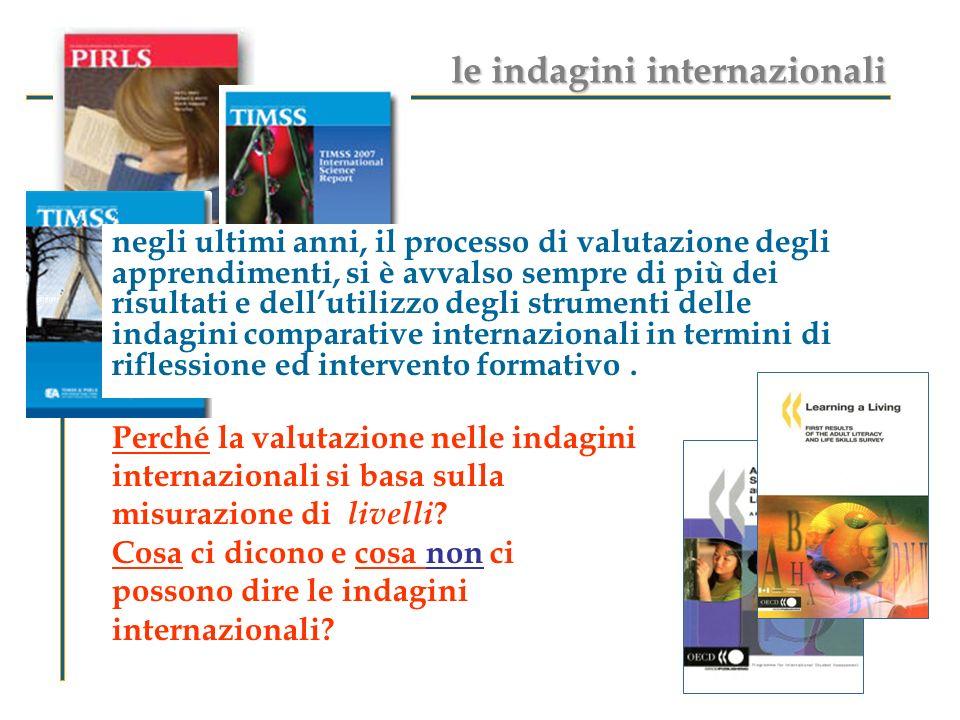 le indagini internazionali
