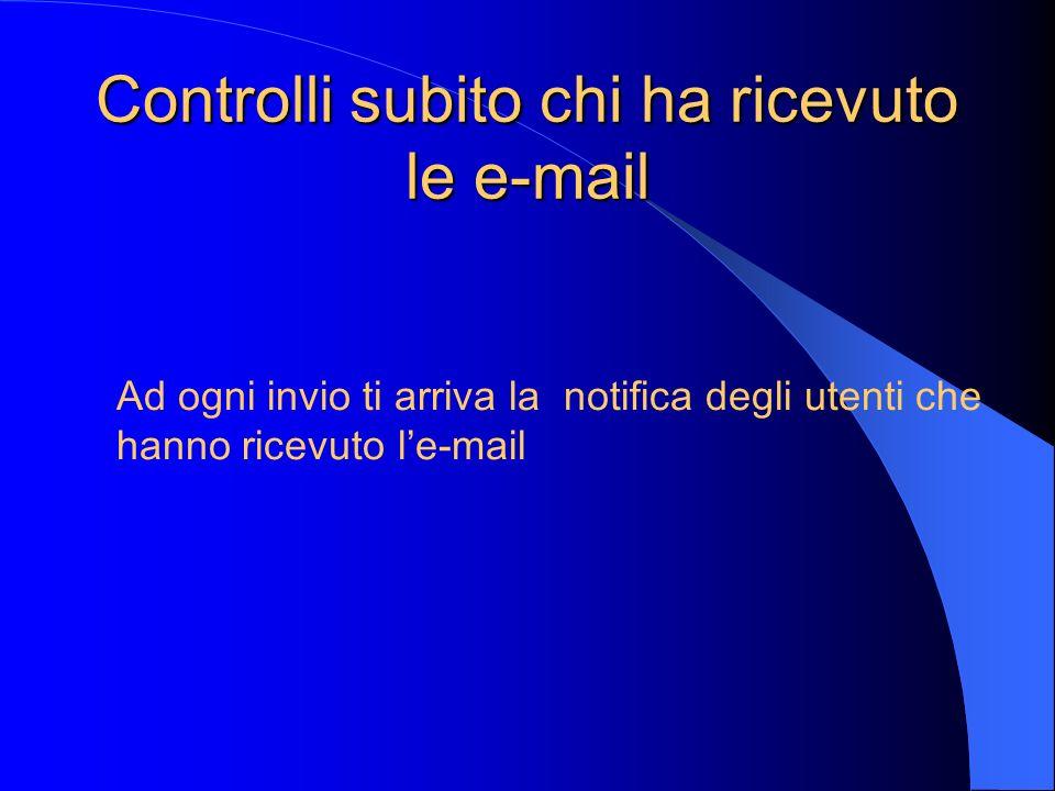 Controlli subito chi ha ricevuto le e-mail