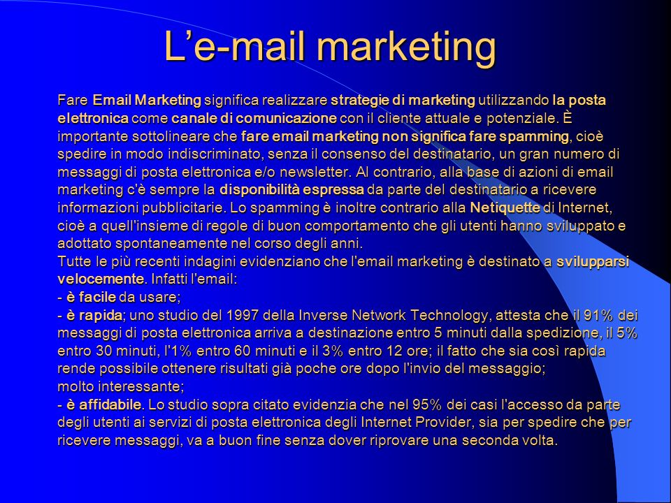 L'e-mail marketing