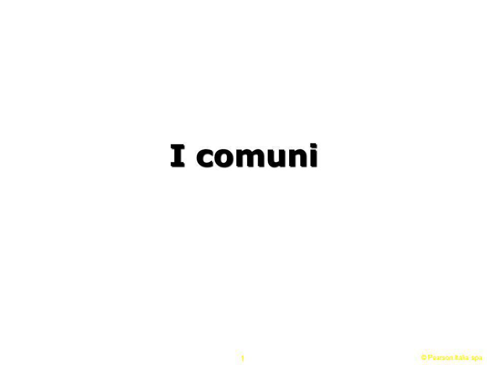 I comuni © Pearson Italia spa