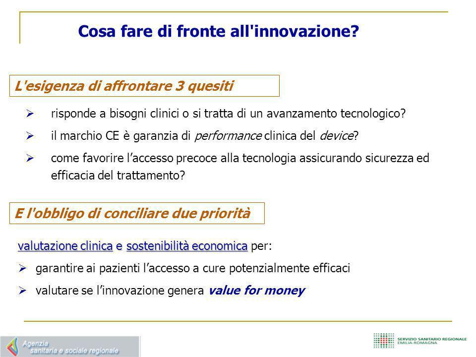 Cosa fare di fronte all innovazione