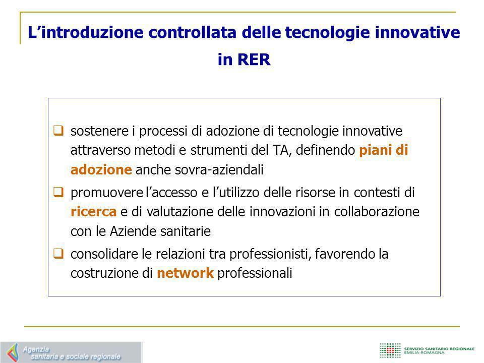 L'introduzione controllata delle tecnologie innovative in RER