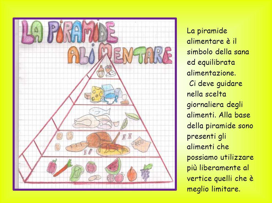 La piramide alimentare è il simbolo della sana ed equilibrata alimentazione.