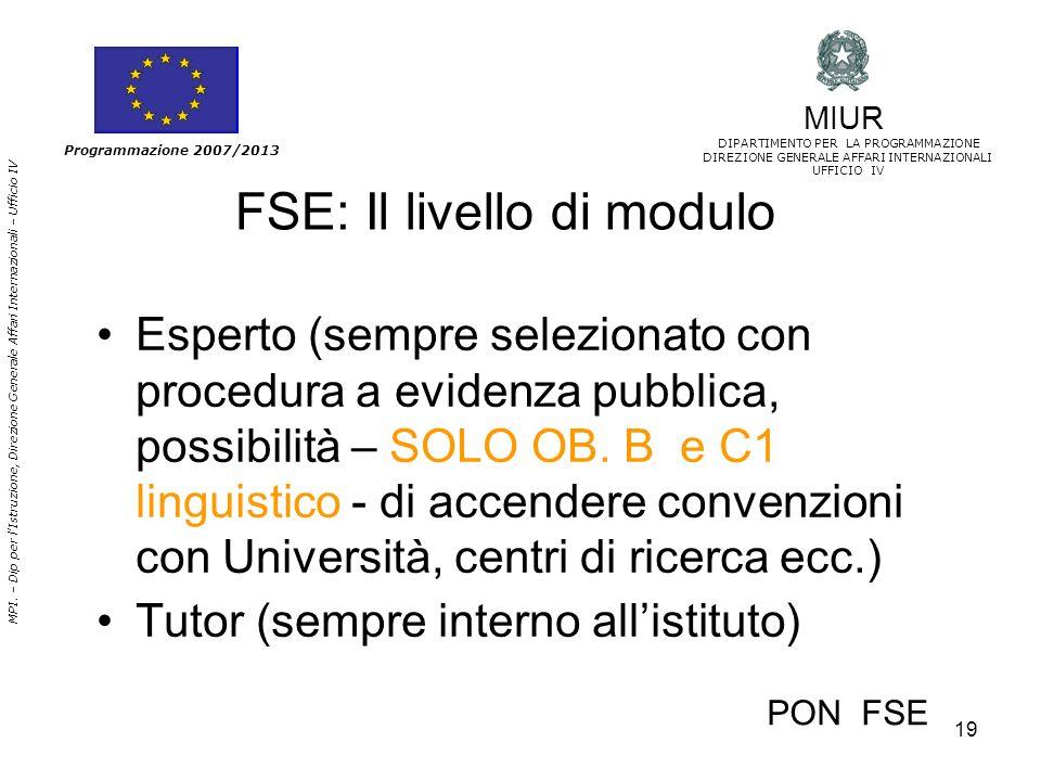 FSE: Il livello di modulo