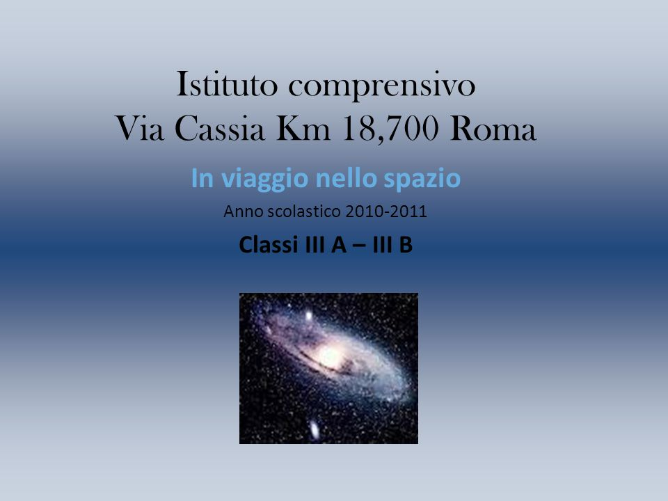Istituto comprensivo Via Cassia Km 18,700 Roma
