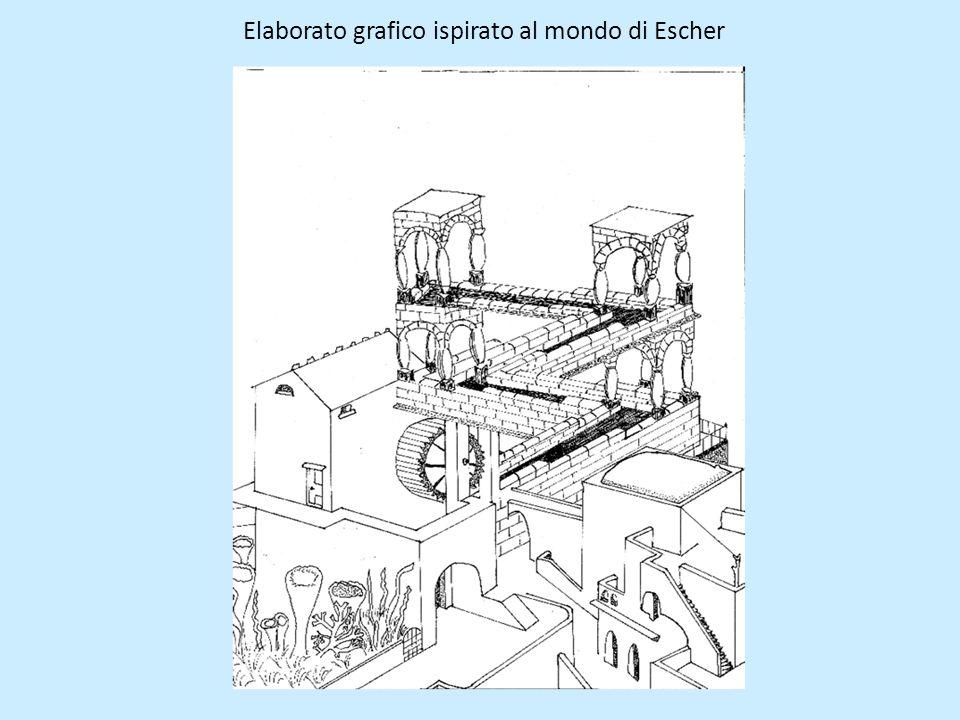 Elaborato grafico ispirato al mondo di Escher