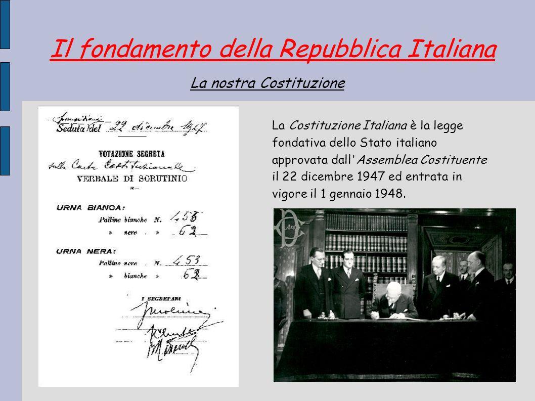 Il fondamento della Repubblica Italiana