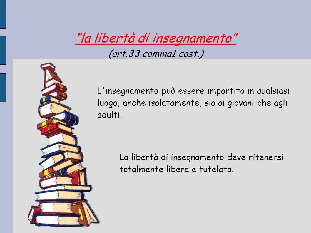 la libertà di insegnamento
