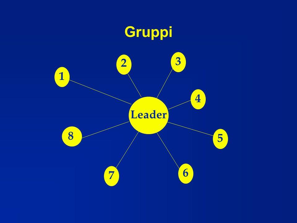 Gruppi 3 2 1 4 Leader 8 5 6 7