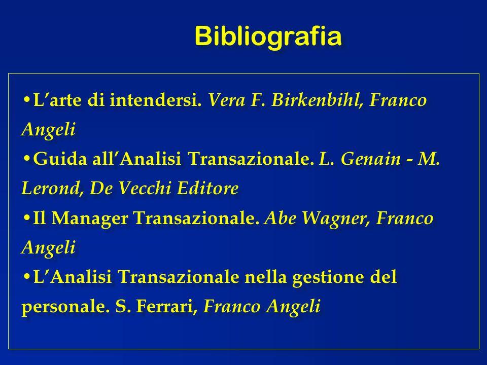 Bibliografia L'arte di intendersi. Vera F. Birkenbihl, Franco Angeli