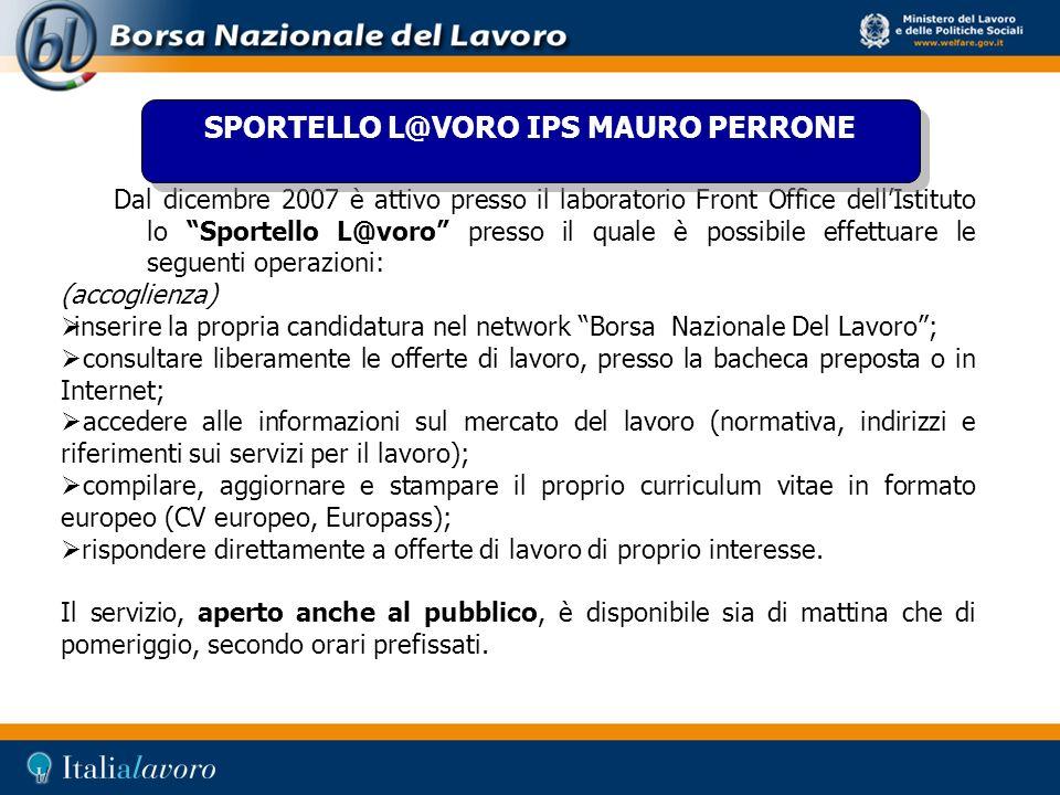 SPORTELLO L@VORO IPS MAURO PERRONE