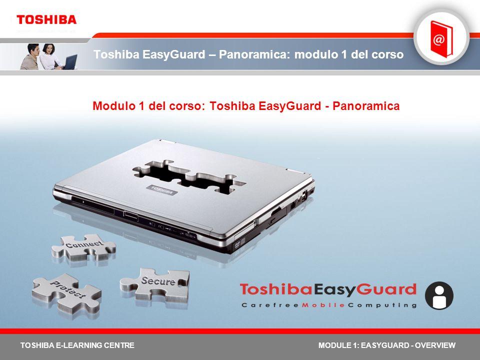 Toshiba EasyGuard – Panoramica: modulo 1 del corso