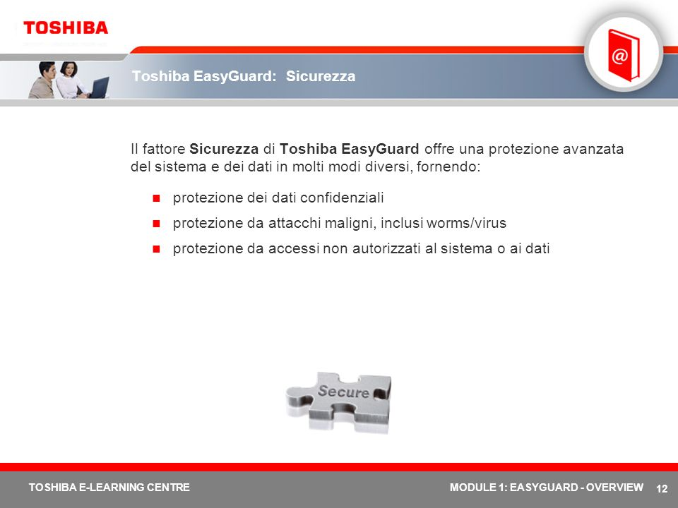 Toshiba EasyGuard: Sicurezza