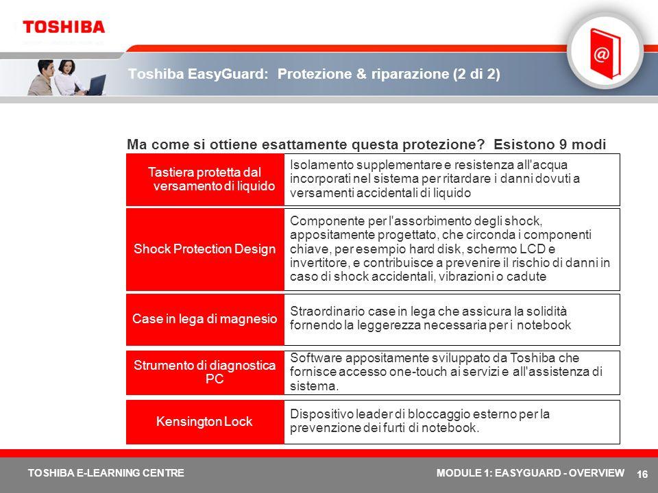 Toshiba EasyGuard: Protezione & riparazione (2 di 2)