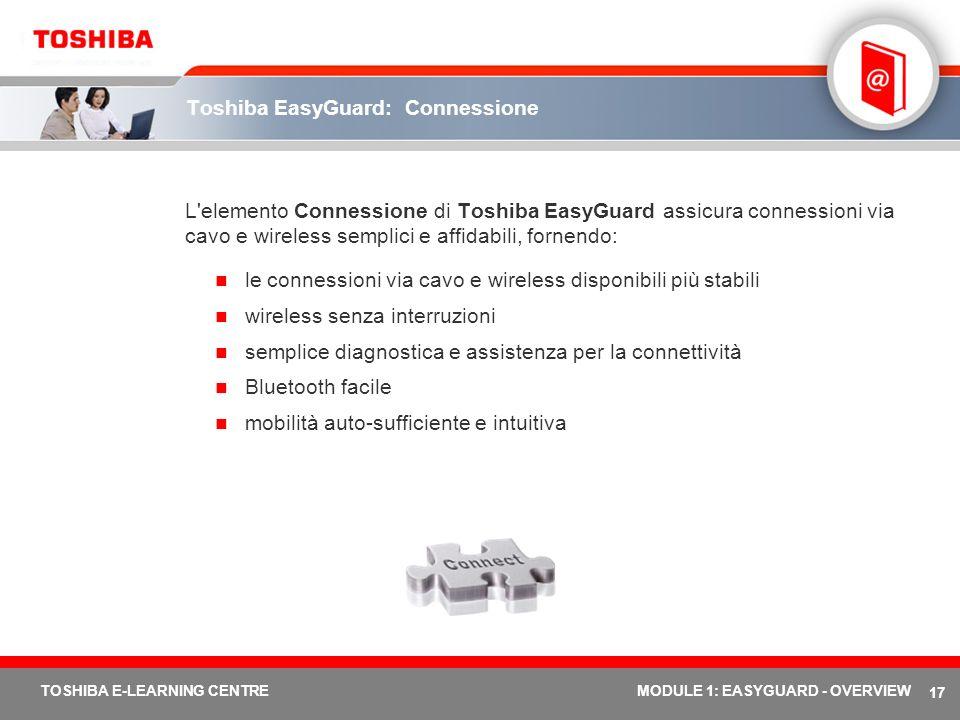 Toshiba EasyGuard: Connessione