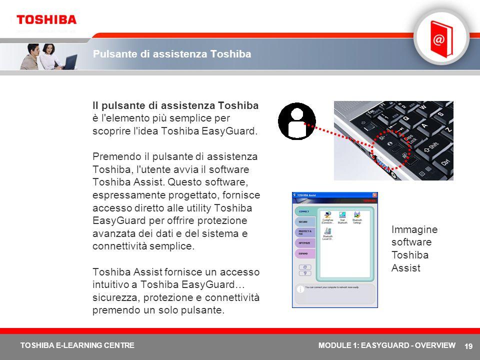 Pulsante di assistenza Toshiba