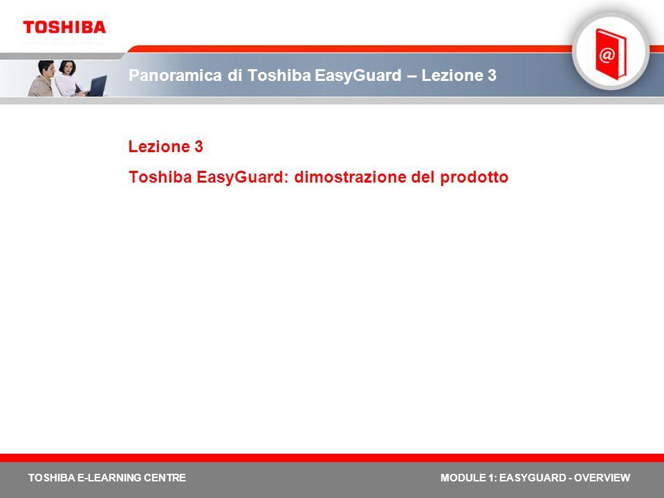 Panoramica di Toshiba EasyGuard – Lezione 3