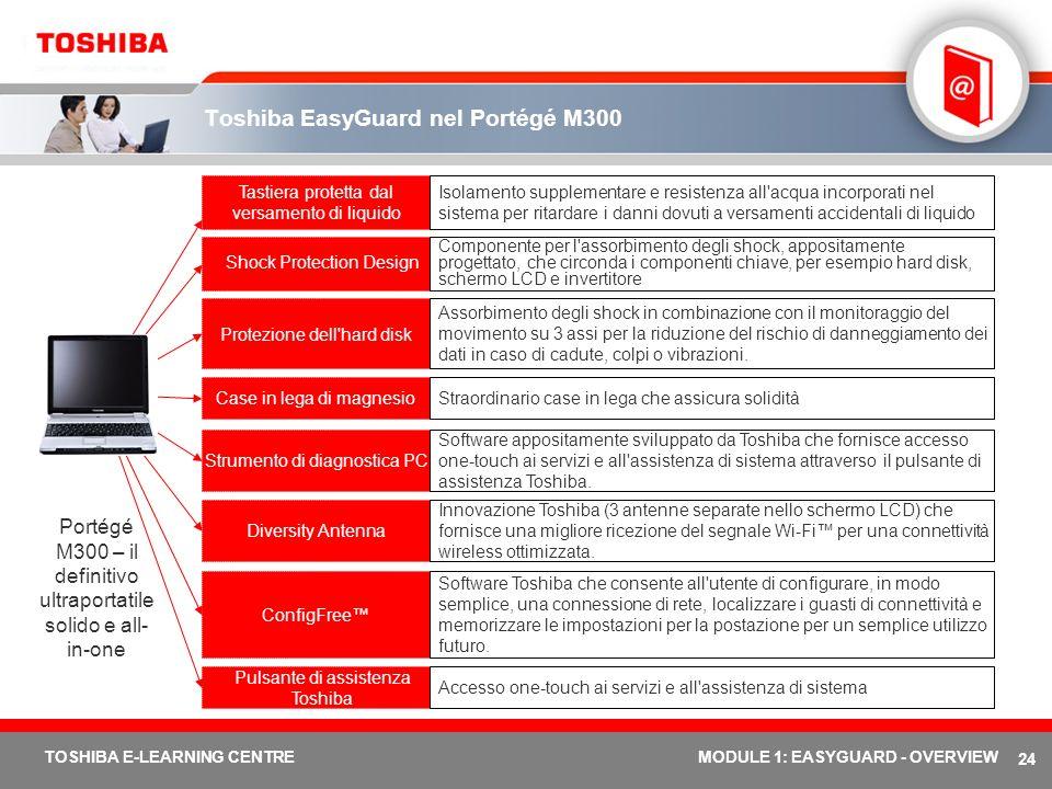 Toshiba EasyGuard nel Portégé M300