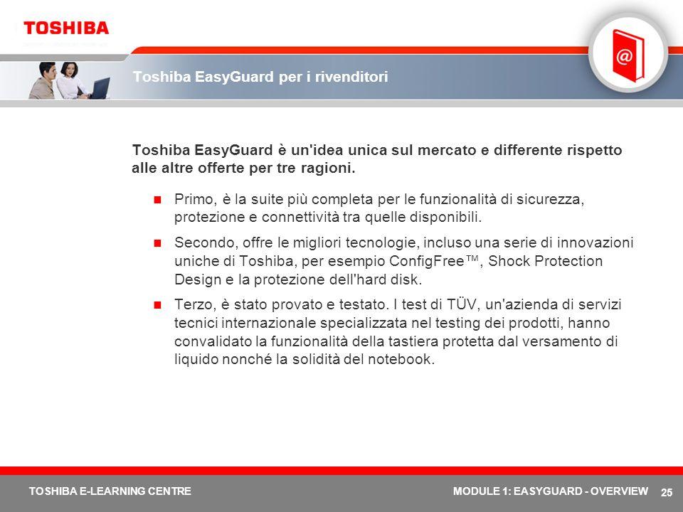 Toshiba EasyGuard per i rivenditori
