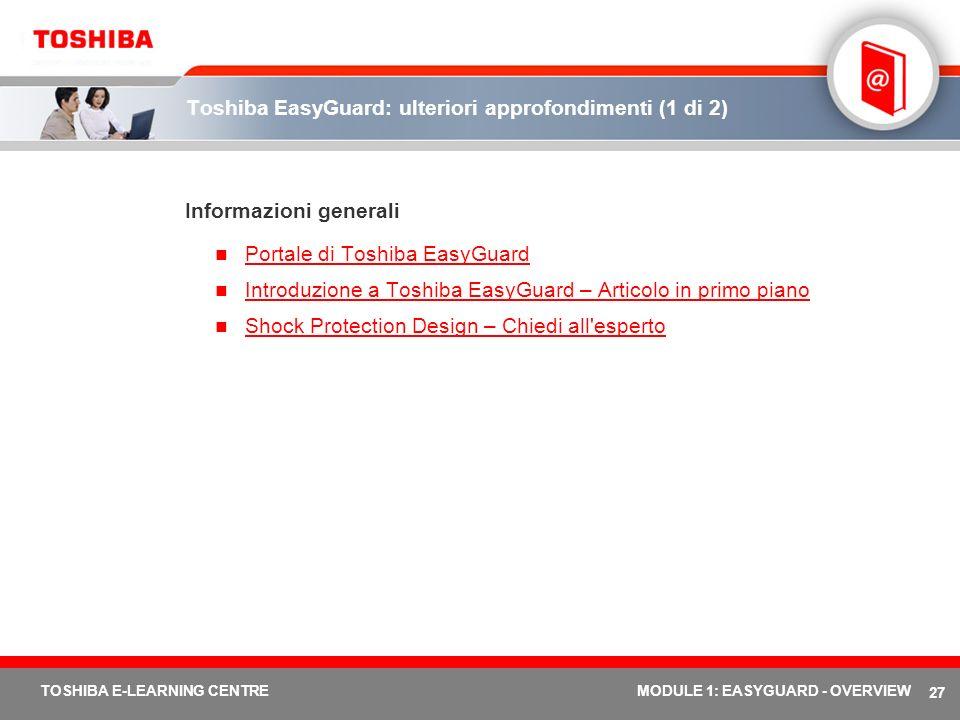 Toshiba EasyGuard: ulteriori approfondimenti (1 di 2)