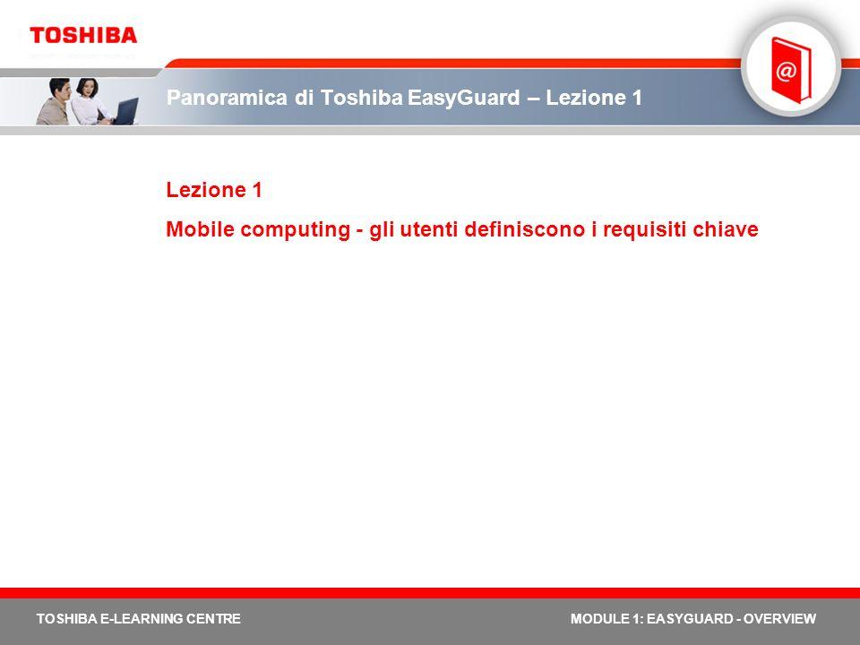 Panoramica di Toshiba EasyGuard – Lezione 1