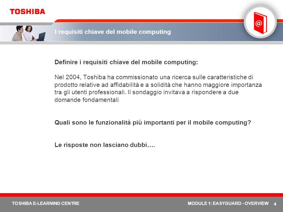I requisiti chiave del mobile computing