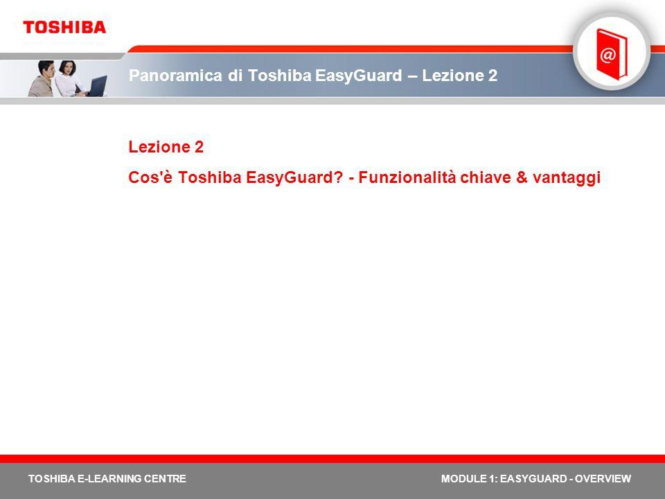 Panoramica di Toshiba EasyGuard – Lezione 2